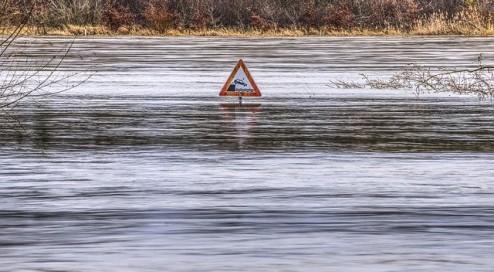 Überflutete-Autos